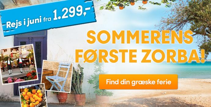 Sommerens første zorba fra 1.299,-