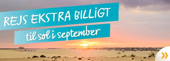 Rejs billigt i september!