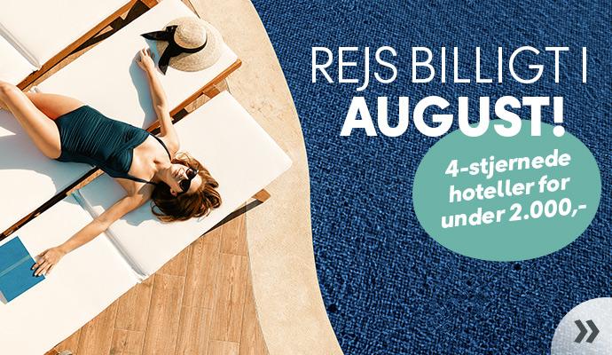 Rejs billigt i august