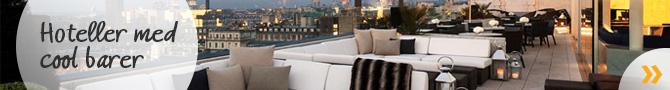 Storbyhoteller med cool barer