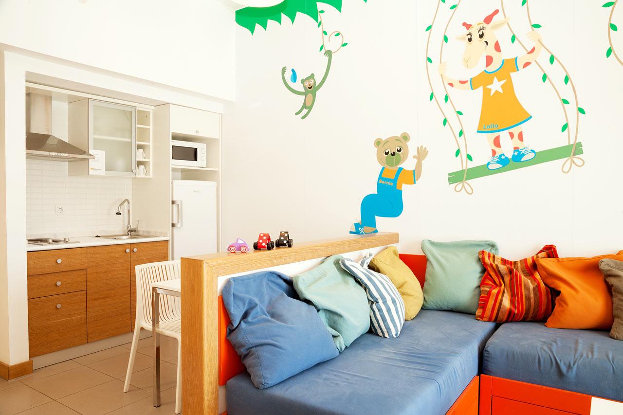 2-værelses Lollo & Bernie Suite med terrasse mod haven