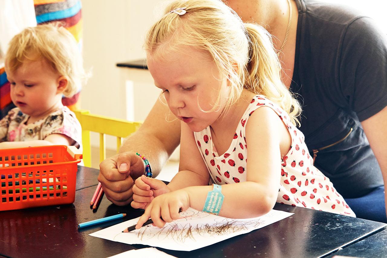 I Lollo & Bernies Mini Land foregår der sjove aktiviteter for børnene