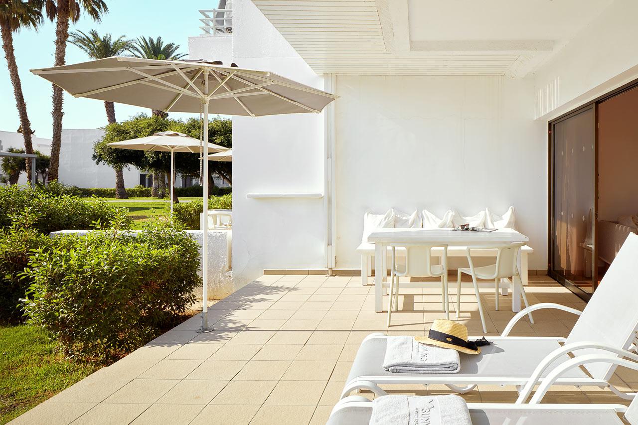 2-værelses Royal Family Suite med terrasse mod haven