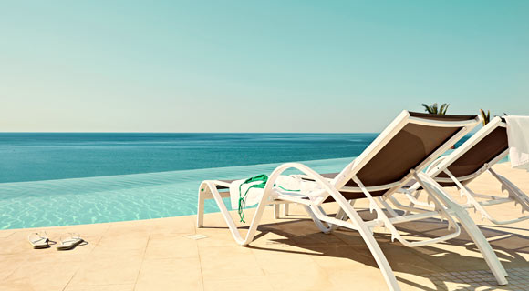 Pool og strand