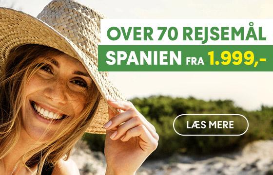 Over 70 rejsemål i Spanien