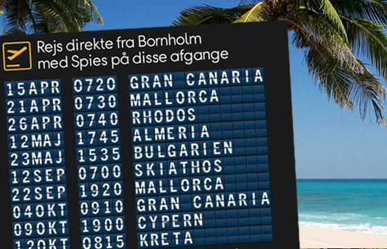 Flyv direkte fra Bornholm
