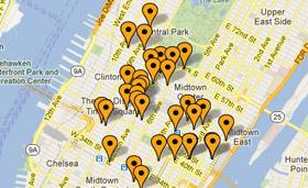Spies har altid centrale hoteller i New York