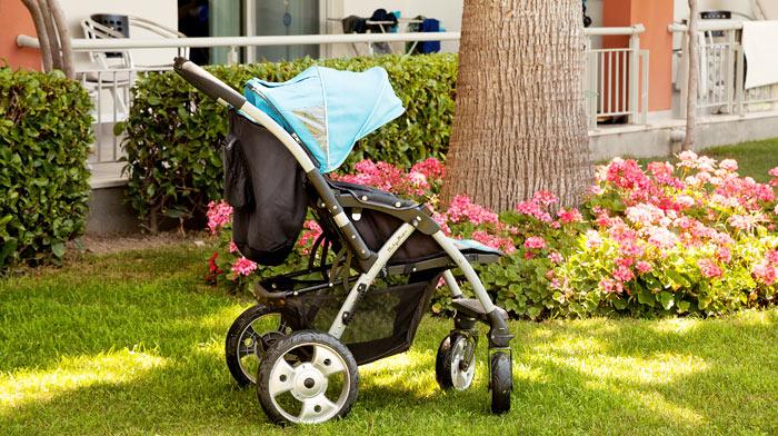 Paraplyklapvogn, barneseng eller skråstol